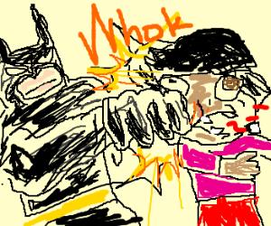 batman punching dora the explorer