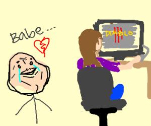 Boy hates how girlfriend plays diablo