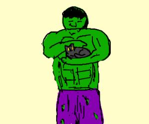 Hulk likes cats