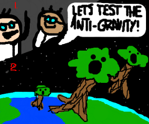 Trees floating up into space