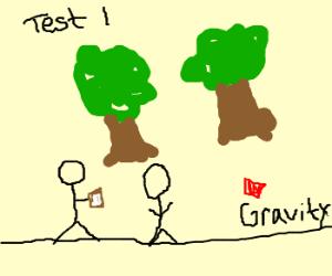 Scientists test anti-gravity. Trees: :O