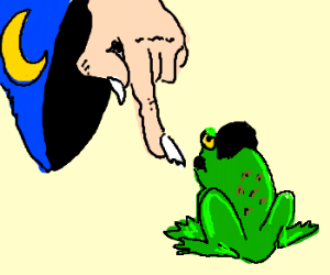 Wizard turns Hitler into a toad