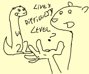 Otters discuss life's difficulty level.