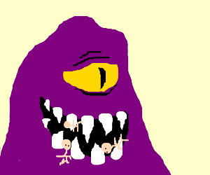 One eyed purple people eater