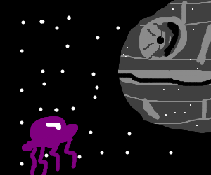 Jellyfish drifts towards the Death Star