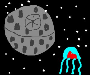 The death star and a jellyfish