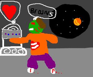zombie robot space love