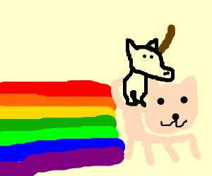 unicorn riding nyan cat