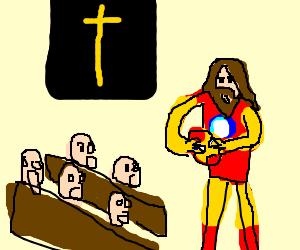 Iron Man reveals his true face in church