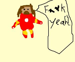 iron man jesus fuck yeah