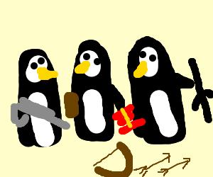 Heavily armed penguin gang!
