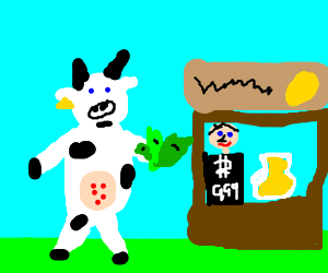 Cow wants to buy some expensive lemonade