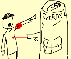 Hooray, cherry cola kills nazis!