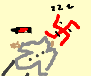 Soda makes swastika man fall asleep