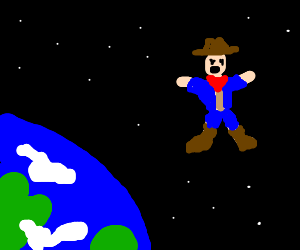 A cowboy in orbit