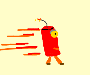 Running lit dynamite