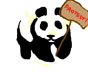 Panda is a protester!
