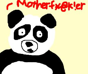Swearing panda