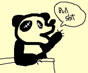Eyeless pandas decry state of society