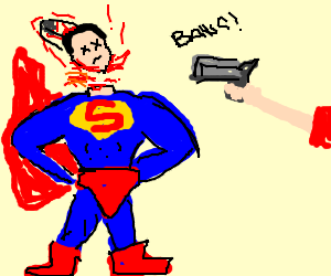 Superman gets his head shot off