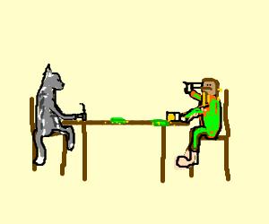 Cat & Green Dwarf play russian Roulette