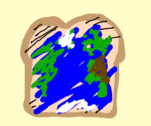 Earth-spread on a toast