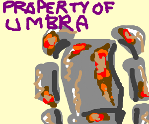 Umbra's armor has rusted.