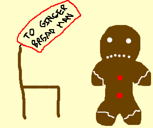 gingerbread hates chair he was offered