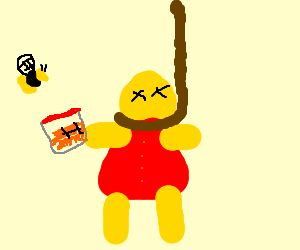 winnie the pooh gets hung in the gallows