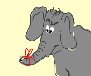 an elephant forgets to never forget drawception. Black Bedroom Furniture Sets. Home Design Ideas