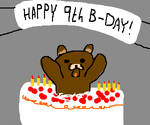 "Pedobear jumps out of cake: ""Surprise!"""
