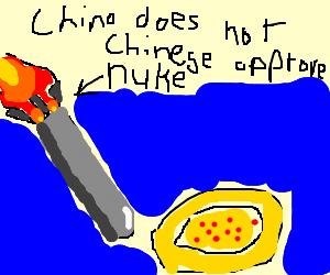 China doesn't like pizza