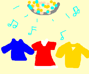 Shirts are disco dancing!!