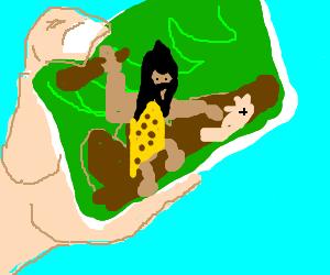 amazing photo of caveman in action
