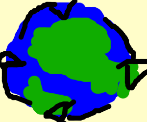 The Earth turns clockwise