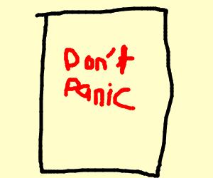 Panic? NO!