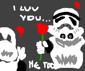 stormtroopers fall in love w/ eachother