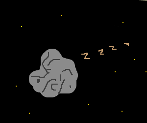 Boring Asteroid in space
