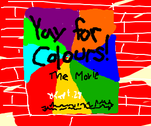 Poster for a film about colours