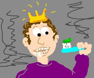 Prince Brushing Teeth