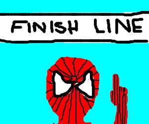 Spider-Man wins a marathon