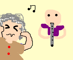 Grandma thinks flute-playing is noisy