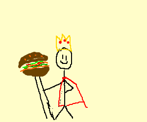 Burger King mascot: early days