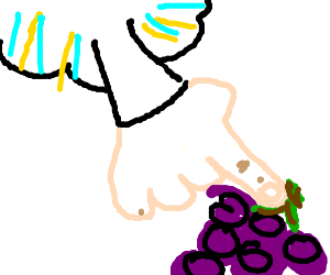 Grapes get in God's way