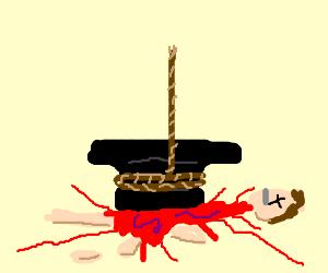 anvil kills man