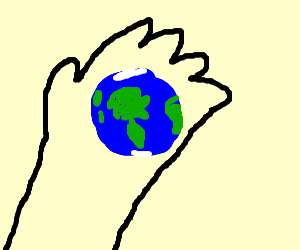 The world is in the palm of your hands