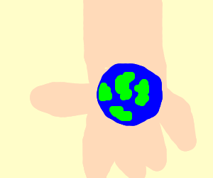 The world in the palm of your hand