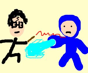 Harry Potter Fights Megaman in a Mansion