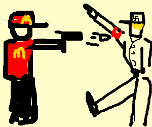 worker from mcdonalds shooting a nazi
