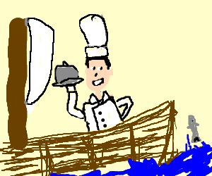 chef on a boat